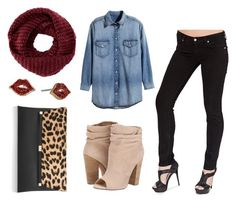 """""""Bullet Blues Fall Uniform: Scarf + Black Skinny Jeans 3"""" by bulletblues ❤ liked on Polyvore featuring H&M, Chinese Laundry, Diane Von Furstenberg, TOMS and Kate Spade"""