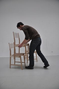 """""""chaise triplette"""" by Paul Menand (3 chairs in one!)"""