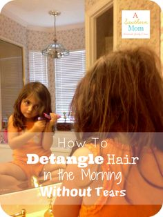 We finally have a TEAR free hair care routine for my daughter! No more knots and no more TEARS (from her OR me) !