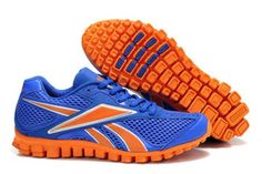 on sale e9446 06bca reebok realflex mens mesh trainers blue and orange 36217 Running Shoes On  Sale, Mens Running