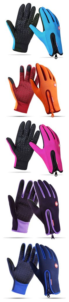 #men #women Windproof Touch Screen Fleece Cycling Gloves #fashion #style