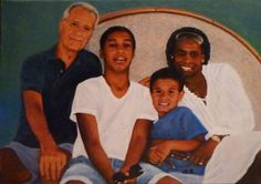 Portrait of The Rob`s Family 2013  60x40 cm  oil on canvas  commissioned for private collection  United Kingdom