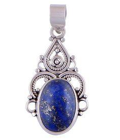 Sterling Silver Lapis Lazuli Pendant