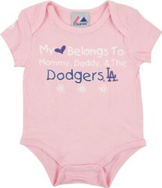 Amazon.com  Los Angeles Dodgers Newborn Infant Girls Pink  My Heart Belongs  To  Creeper  Sports   Outdoors d208bb93fc7