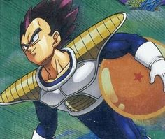 Vegeta carrying dragon ball