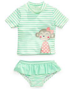 Carter's Baby Girls' 2-Piece Monkey Rashguard Swimsuit - Kids - Macy's