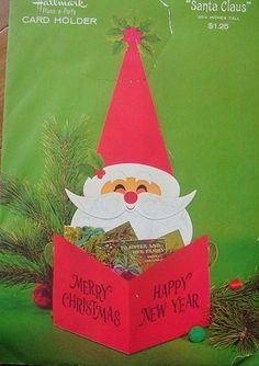 Vintage Santa Card Holder