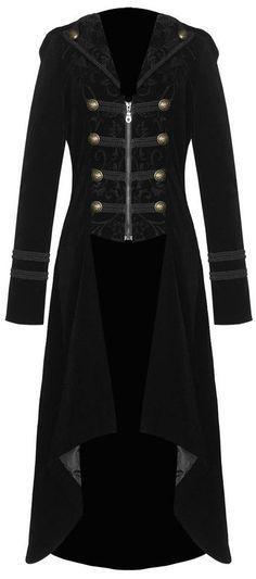 military inspired black velvet coat <3