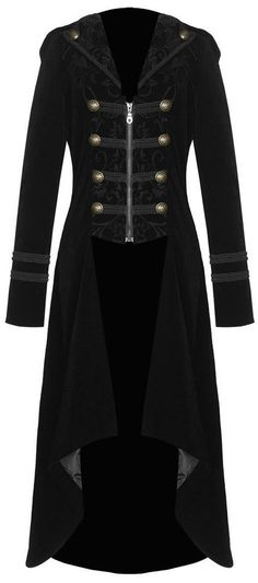 military inspired black velvet coat <3