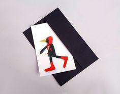 Postcard    vivid photo of fabric modern handmade by TIMOHANDMADE