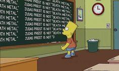 Simpsons apologise to Judas Priest - Bart blackboard