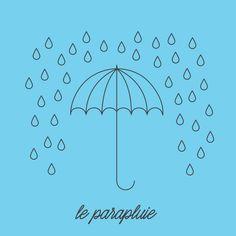 J'aurai besoin du mon parapluie ce week-end.