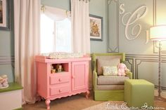 Beautiful baby nursery for girls.