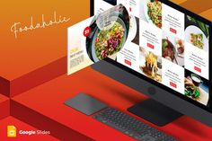 Download for free now Foodaholic - Google Slides Template #presentation #presentations #templates Presentation Design Template, Powerpoint Presentation Templates, Keynote Template, Design Templates, Business Brochure, Business Card Logo, Photography Names, Creative Photography, Powerpoint Themes