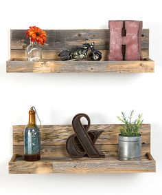 Another great find on #zulily! Brown Floating Shelf - Set of Two by DelHutson Designs #zulilyfinds