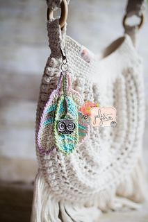 I LOVE the Boho look. I also love all sorts of accents and embellishments that fit the boho theme. A pattern was recently released for a Tunisian style of feather and as much as I admired the looks, I do not have suitable hooks for that project, so I came up with my own style that uses some of my favorite, basic crochet stitches instead.