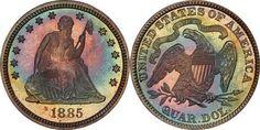 1885 Proof Quarter