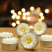 daisy tea light candles - perfect for a spring/summer party
