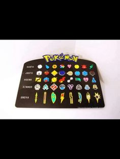 All the Pokemon gym badges! I want!