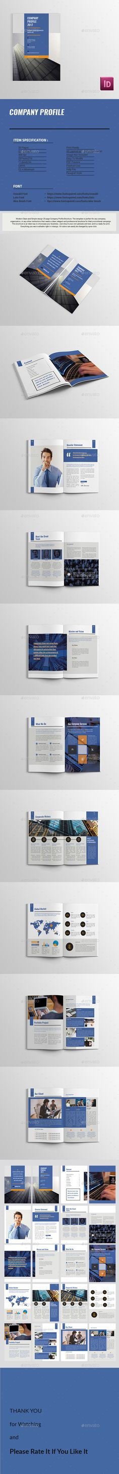 Company Profile Brochure 14 Pages A4 Folletos, Diseño y Cartas - it company profile template