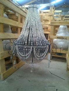 Wooden Chandelier, Beaded Chandelier, Chandelier Lighting, Element Lighting, Lighting Concepts, Entrance Lighting, Home Lighting, Colorful Furniture, Home Decor Furniture