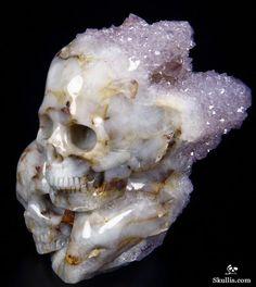 Amethyst Druse Crystal Druse Skull