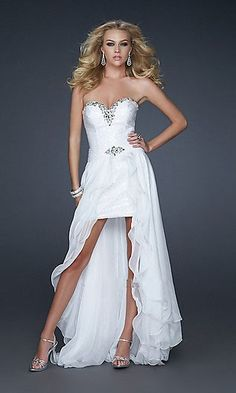 White Beading Sweetheart Removable Long Train Ruched Homecoming / Short Prom Dress/ Sweet 16 Dress/ Graduaation Dress S287005