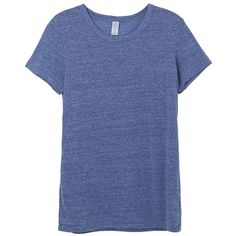 Ideal Eco-Jersey T-Shirt ($8) ❤ liked on Polyvore featuring tops, t-shirts, blue top, blue t shirt, blue tee and eco jersey