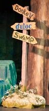 """Duloc-Swamp sign leave off the word """"Donkey""""."""