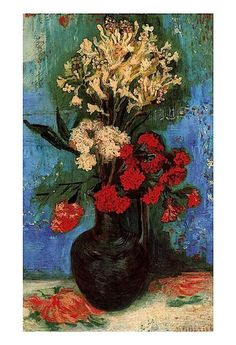 Wall decoration art Van Gogh Vase with Carnations and Other Flowers oil painting decorative pictures for friends No Frame Art Van, Van Gogh Art, Fleurs Van Gogh, Van Gogh Flowers, Flowers Vase, Rembrandt, Vincent Van Gogh, Pierre Auguste Renoir, Claude Monet