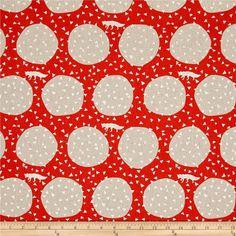 Kokka Echino Linen Blend Canvas Den Fox Orange/Metallic from @fabricdotcom  Designed by Etsuko Furuya, this medium weight (6 oz./square yard) cotton linen blend canvas fabric is perfect for toss pillows, window treatments, apparel and more. Colors include burnt orange, tan, and metallic silver.