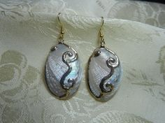 Gold Plated White Abalone Shell with by TheSaltyShell on Etsy, $22.00