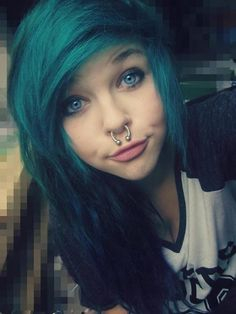 Hair color, phenomenal. Septum ring, ridiculous. I have my septum pierced but that is too much.