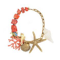 Korallen-Muscheln-Seestern Kette Seashell and coral necklace