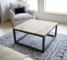 Ana White | Build a Industrial Style Coffee Table as seen on DIY Network | Free and Easy DIY Project and Furniture Plans