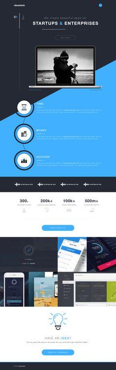Clevertech website design concept