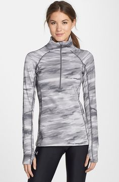 Under Armour ColdGear® Cozy Neck Half Zip Top available at #Nordstrom Sz large