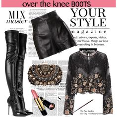A fashion look from September 2015 by spenderellastyle featuring Alessandra Rich, Pussycat, Moschino, Alexander McQueen, Lipsy, Revlon, Vanity Fair, Libertine a...