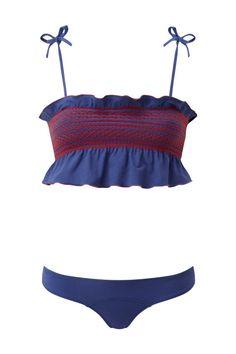 Lisa Marie Fernandez Selena Smocked Faded Bikini, $400