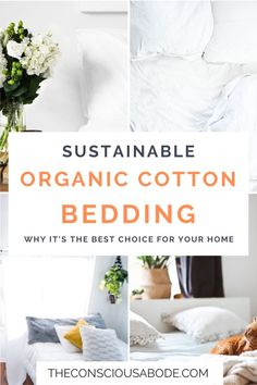 Shopping around for new bedding? Discover the benefits of choosing organic cotton for all your bedding needs- the answers might surprise you! Natural Bedroom, Organic Cotton Sheets, Natural Living, Organic Living, Eco Friendly House, Cotton Bedding, Sustainable Living, Sustainability, Zen Decorating
