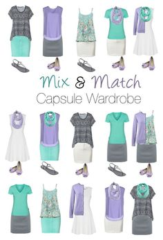 Capsule Wardrobe: Lavender and Mint