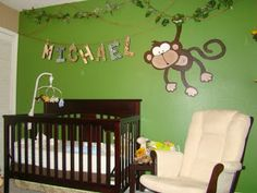 Dormitorios de bebé tema la jungla