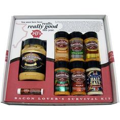 J&D's Bacon Lover's Survival Kit Gift Pack - http://mygourmetgifts.com/jds-bacon-lovers-survival-kit-gift-pack/