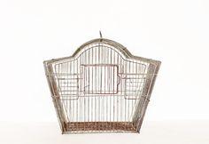 vintage pagoda grey bird cage by AnnaLouVintage on Etsy, $37.99