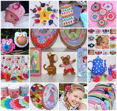 Madeliefke haarspeldjes, babymutsjes, sleutelhangers, gehaakte applicaties en accessoires