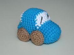 Crochet Amigurumi Car Baby Rattle Toy-Car rattle от UAmadeForYou