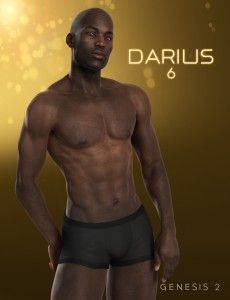 Darius 6 3D Black Man Model