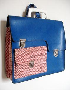 retro seventies school bag