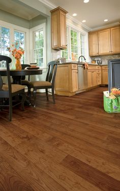 image result for kitchen flooring and maple cabinets vinyl wood