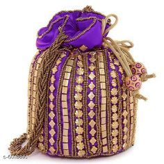 Pouches & Potlis Sana Stylish Women's Potli  Material: Silk Pattern: Embroidered Multipack: 1 Sizes:  Free Size (Length Size: 8 in Width Size: 7 in) Country of Origin: India Sizes Available: Free Size   Catalog Rating: ★4.2 (2227)  Catalog Name: Classic Alluring Women Pouches CatalogID_911783 C73-SC1077 Code: 991-6013806-093
